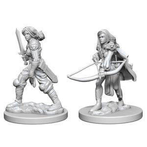 Pathfinder Battles Deep Cuts Unpainted Miniatures: Human Female Fighter W1